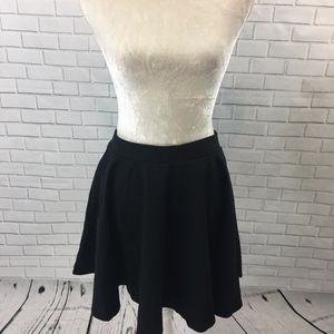 Lauren Conrad Heavy Black Circle Skirt